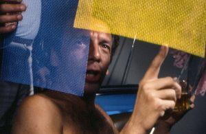 "Photo: Andreas Valentin. From Ivan Cardoso's film ""H.O."", 1979. Person in the image: Hélio Oiticica"