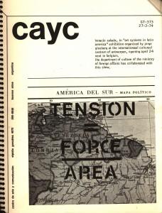Horacio Zabala, in « Art Systems in Latin America », Internationaal Cultureel Centrum, Antwerp, 1974, ed. CAYC, Buenos Aires, 1974, Credits : Archivo de Artistas Juan Carlos Romero, Buenos Aires.