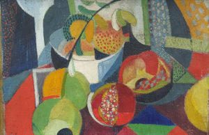 Ángel Zárraga (1886-1946),  Still life with Pomegranates, 1914,  Oil on canvas, Photo courtesy of Kaluz Collection