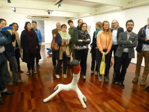 Galeria Estação during Transregional Academy visit, Various Véio works on exhibit, Floor 1. 2016