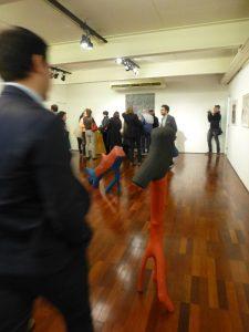 Galeria Estação during Transregional Academy visit, Various Véio works on exhibit, Floor 1. 2016.