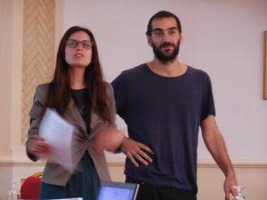 Alena Strohmaier and Dimitris Soudias (Foto: Anne-Linda Amira Augustin