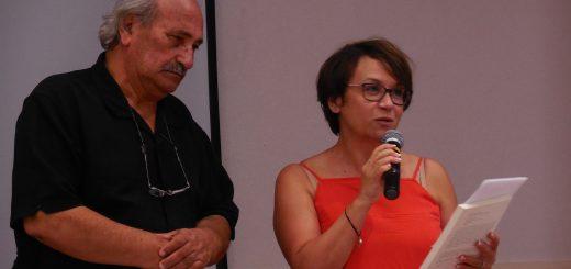 Moncef Mezghanni introduced by Karima Dirèche (Photo: Anne-Linda Amira Augustin)
